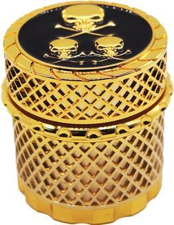 """1.6"""" 44 mm 4 Piece Grinder Herb Spice Crusher Drum Design Wi"""