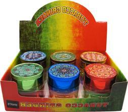 "1.9"" Aluminum Grinder 4 PC Tobacco Herb Spice Grinder Candy"