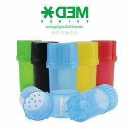 1 Medtainer Storage Container w/ Built-In Grinder - Assorted