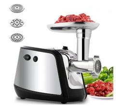 1000W Electric Meat Grinder with 3 Grinding Plates for Home