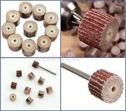 11pc 320Grit Sanding Flap Wheel Sand Paper Dremel Rotary Die