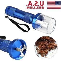 Electric Aluminum Alloy Metal Grinder Crusher Tobacco Smoke