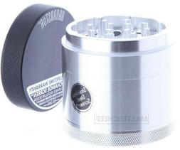 2 2 silver 4pc tobacco herb grinder
