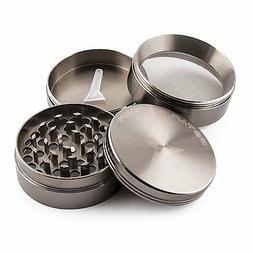 GStar 2.25 Inch 4 Pieces Aluminum Tobacco Spice Herb Grinder
