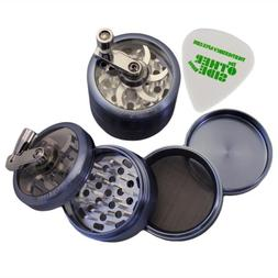 "2.5"" - Blue 4 Piece SharpStone Herb Grinder with Reeling Han"