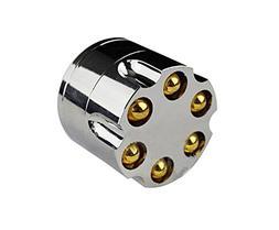 "2"" Aluminum 3 Piece Tobacco Spice Herb Revolver Bullet Grind"