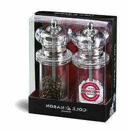 Cole & Mason 5-1/2 Clear Acrylic Salt & Pepper Mill