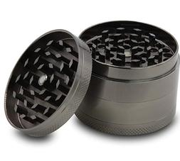 New 4 Piece Herb Grinder Spice Tobacco Smoke Zinc Alloy Crus