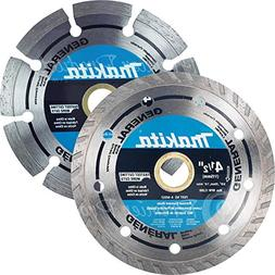 Makita 2 Piece - 4 1 2 Segmented & Turbo Rim Diamond Blade S