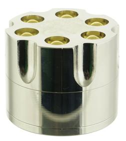 "2"" Aluminum Revolver Bullet Tobacco Spice Herb Mill Grinder"