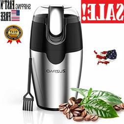 200W Electric Coffee Bean Grinder with Stainless Steel Blade