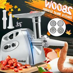 2800W Electric Meat Grinder Home Kitchen Sausage Maker Stain