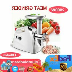 2800W ELECTRIC MEAT GRINDER STAINLESS STEEL SAUSAGE FILLER M