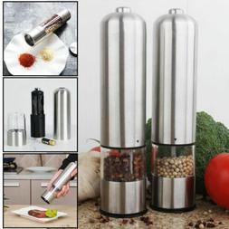 2pcs Adjustable Electric Pepper Grinder Salt Spice for Cooki