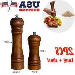 2PC Kitchen Cooking Tool Salt and Pepper Grinder Mill Hand M