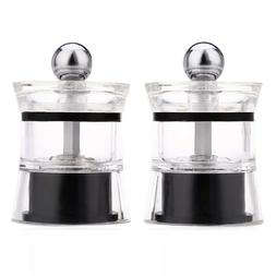 2pcs pepper spice acrylic grinder seasoning manual