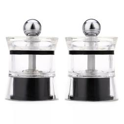 2pcs Pepper Spice Acrylic Grinder Seasoning Manual Cooking T
