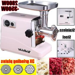 3500W Electric Meat Grinder Home Kitchen Food Sausage Stuffe