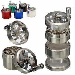 4 Layers Tobacco Herb Spice Grinder Herbal Zinc Alloy Hand s