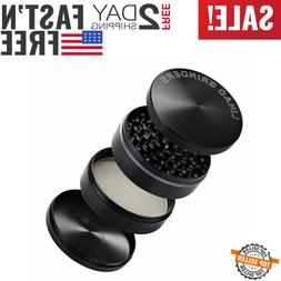 """Lihao 4 Part 3"""" Spice Herb Grinder Black Perfect New"""
