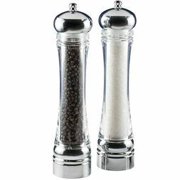 Orii, 4-PC XL Salt Pepper Grinder Mill Set, 2 Refill Tubes
