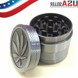 4-Piece Herb Grinder Spice Tobacco/Weed Smoke Zinc Alloy Cru