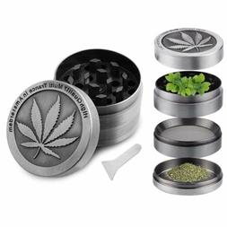 4 Piece Herb Grinder Spice Herbal Magnetic Zinc Alloy Crushe