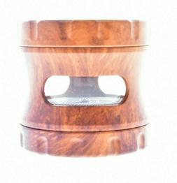 SHARPSTONE 4 Piece Herb Grinder With Window - Light & Dark B
