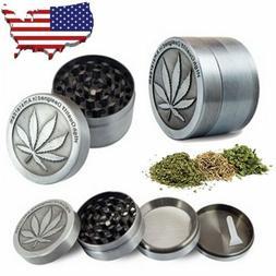 4 Piece Tobacco Herb Grinder Spice Herbal Zinc Alloy Smoke C