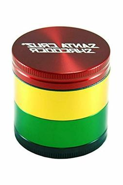 Santa Cruz Shredder 4pc Size Medium Rasta herb Grinder, Red,