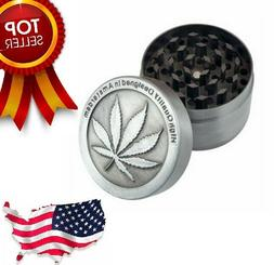 4Piece Herbal Alloy Smoke Metal Chromium Crusher Tobacco Her