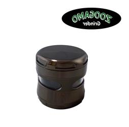 """4 Piece  Aluminum 2.4""""/ 2"""" Spice Herb Grinder Crusher with"""
