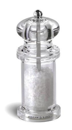 COLE & MASON 505 Salt Grinder - Clear Acrylic Mill Includes