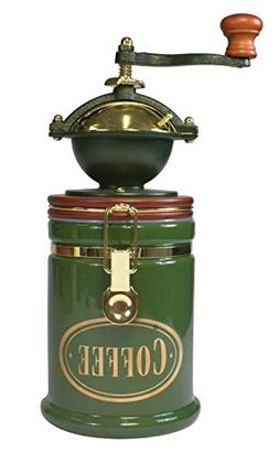 Bisetti 61122 Volluto Coffee Grinder, Green