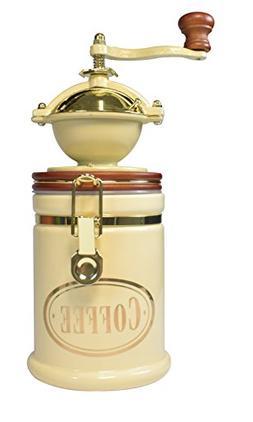 Bisetti 61524 Volluto Coffee Grinder, Cream