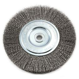 Forney 72747 Wire Bench Wheel Brush, Fine Crimped with 1/2-I