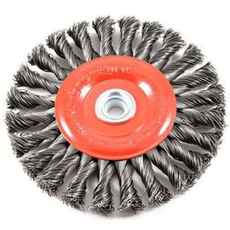 Forney 72749 Wire Wheel Brush Twist Knot Crimped with 1/2-In