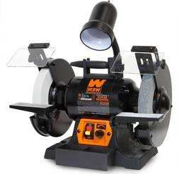 "WEN 8""Bench Grinder Variable Speed Work Light Corded Sharpen"