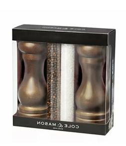 COLE & MASON Capstan Wood Salt and Pepper Grinder Gift Set -