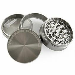 Chromium Crusher 2.5 Inch Zinc 4 Piece Tobacco Spice Herb Gr