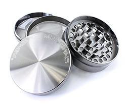 Chromium Crusher 3 Inch 4 Piece Tobacco Spice Herb Grinder -