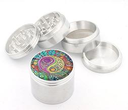 DIG Fashion Weed Design Indian Aluminum Spice Herb Grinder I