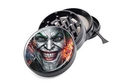 "Joker Face Design Micro Crusher Black 2.5"" 4 Pieces Grinder"