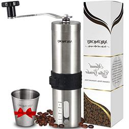 Manual Coffee Bean Grinder, Hand Held Conical Ceramic Burr M