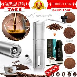 Manual Coffee Grinder | Travel Hand Burr Coffee Bean Grinder