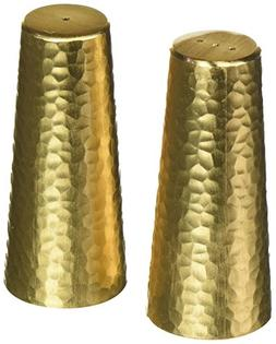 """Matte Gold Two Tone NC610G salt-and-pepper-mills, 3.2"""" Tall,"""