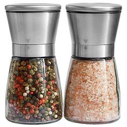 Salt and Pepper Grinder Set - Salt and Pepper Shakers for Pr