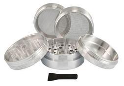 Sharpstone® 2.2 Solid Top 5 Piece Grinder - Silver - 2 Size