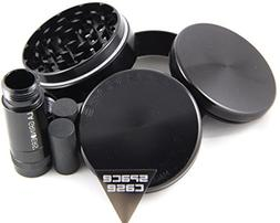 Space Case 4 Piece Titanium Herb Grinder Medium w/La Grinder