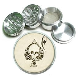 Ace of Spades Skull 4Pc Aluminum Tobacco Spice Herb Grinder